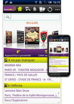 Application sur Android sur FB