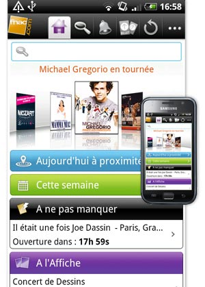 Application sur Android